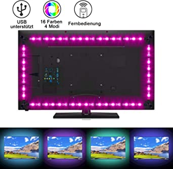 Sunnest LED Strip 2M TV LED Hintergrundbeleuchtung USB led
