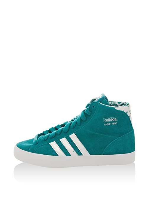 adidas Basket Profi W Chaussures Mode Sneakers Femme Bleu Blanc Suede 36