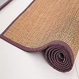 USTIDE Summer Mat Washable Floor Rug Comfortable Rug for Sleeping,Mocha,20''X47''