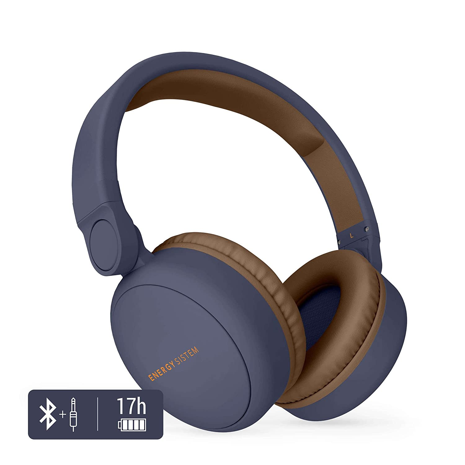 Energy Sistem Headphones 2  mit Bluetooth-Kopfhö rer (Over-Ear, Audio-In, Long battery Life, 180  klappbar beige 445622