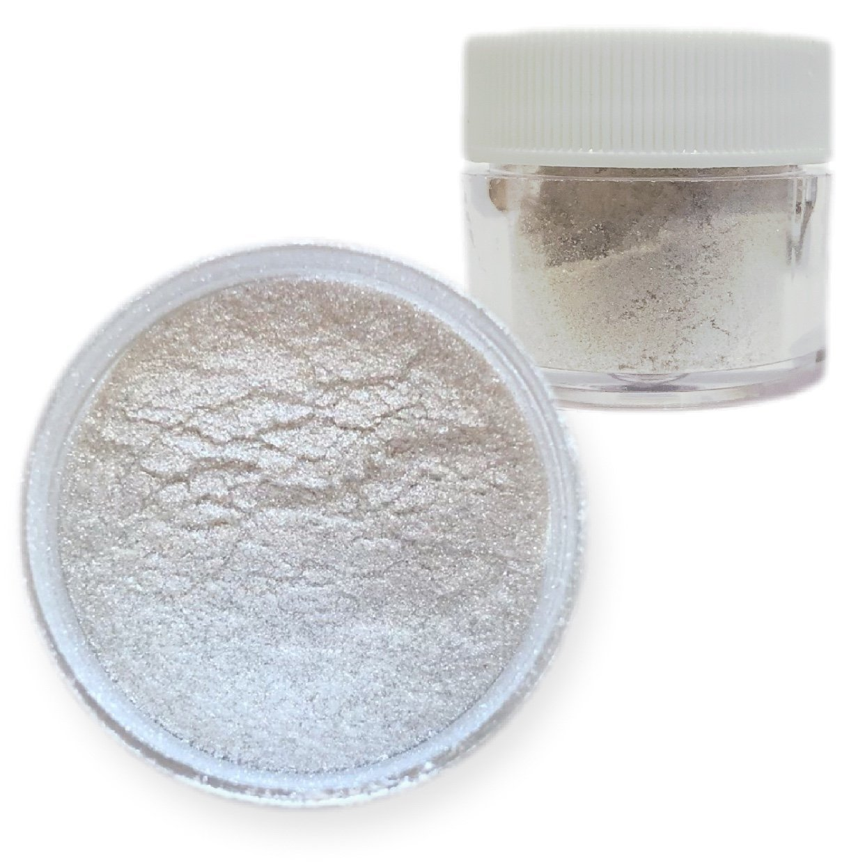 Bakell Super Intense Pearl White Edible Luster Fine Grain Pearlized Sparkle Food Grade Lustre Dust 4g