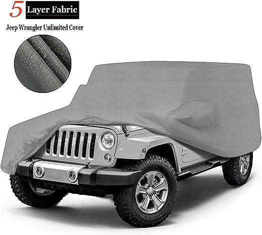 Funda exterior premium para Jeep WRANGLER transpirable para evitar la condensaci/ón en el parabrisas. doble capa sint/ética y de finas trazas de algod/ón por el interior impermeable