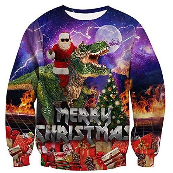 Pareja de suéteres de Navidad con impresión Digital 3D ...