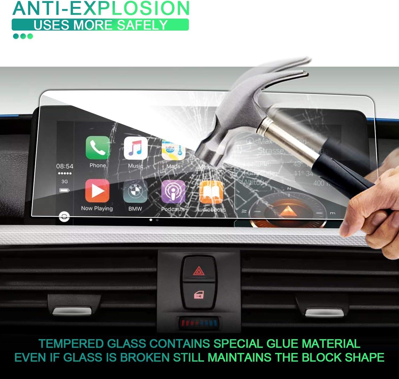 2 transparente SHAOHAO Protector de pantalla de navegaci/ón para BMW Serie 1 X4 X2 cristal templado 9H antihuellas 4 X3 resistente a los ara/ñazos 3 GPS