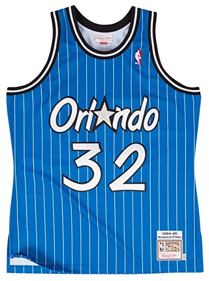 6730d3e06 72263MG94SONE4 MEN ORLANDO MAGIC SHAQ O NEAL MITCHELL   NESS NOSTALGIA BLUE