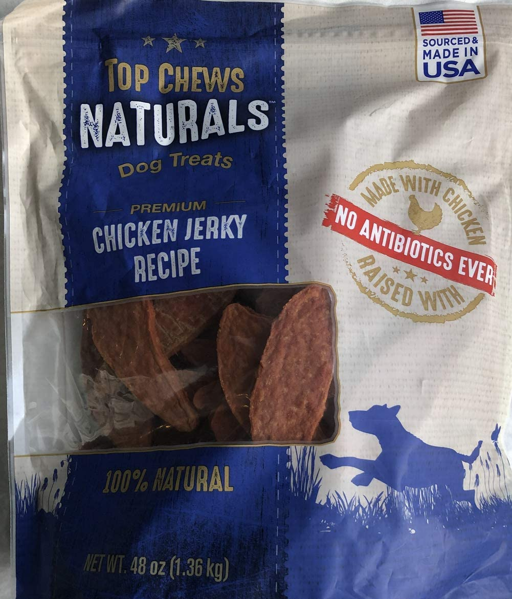 Title – Top Chews 100 Natural Dog Treats Chicken Jerky Recipe 48 OZ 3 LB , Model Number Chicken Food