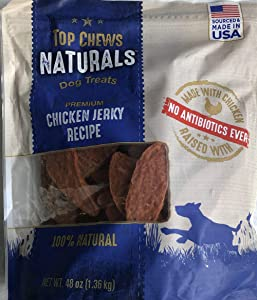 Top Chews 100% Natural Dog Treats Chicken Jerky Recipe 48 OZ (4 LB)