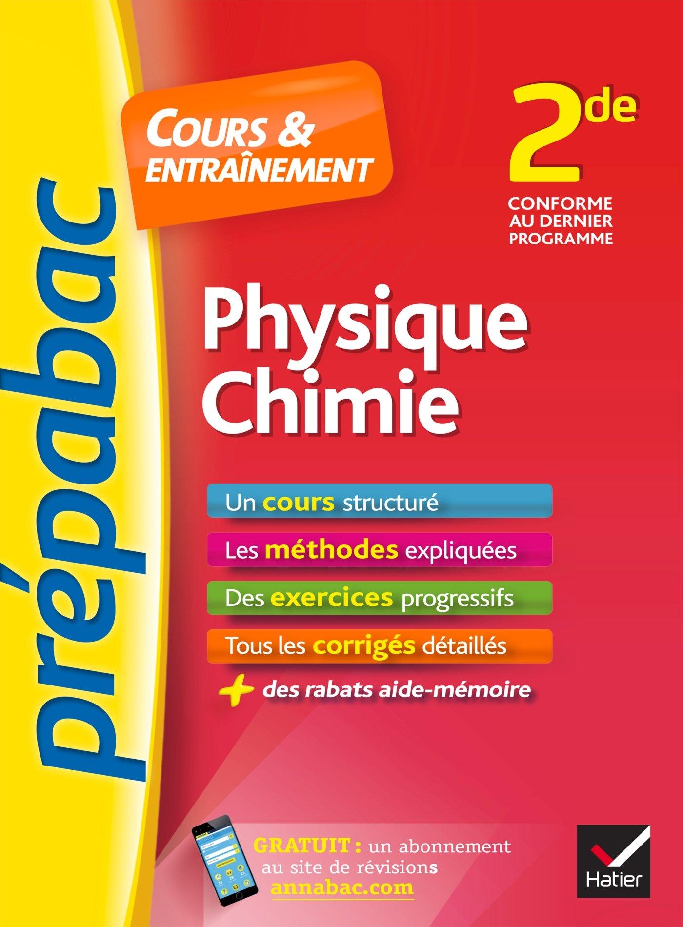Physique Chimie 2de Prepabac Cours Entrainement Cours Methodes Et Exercices Progressifs Seconde Amazon Fr Royer Jacques Benguigui Nathalie Livres