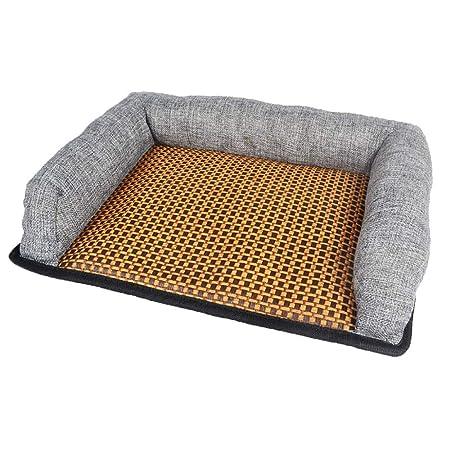SWJ-dog beds Cama para Perros Espuma Ortopédica De Memoria con Memoria Ortopédica Camas para Perros Alivia La Artritis De Las Mascotas Displasia De Cadera Dolor 3 Colores,ColorGrey-38 * 29 * 6cm: Amazon.es: