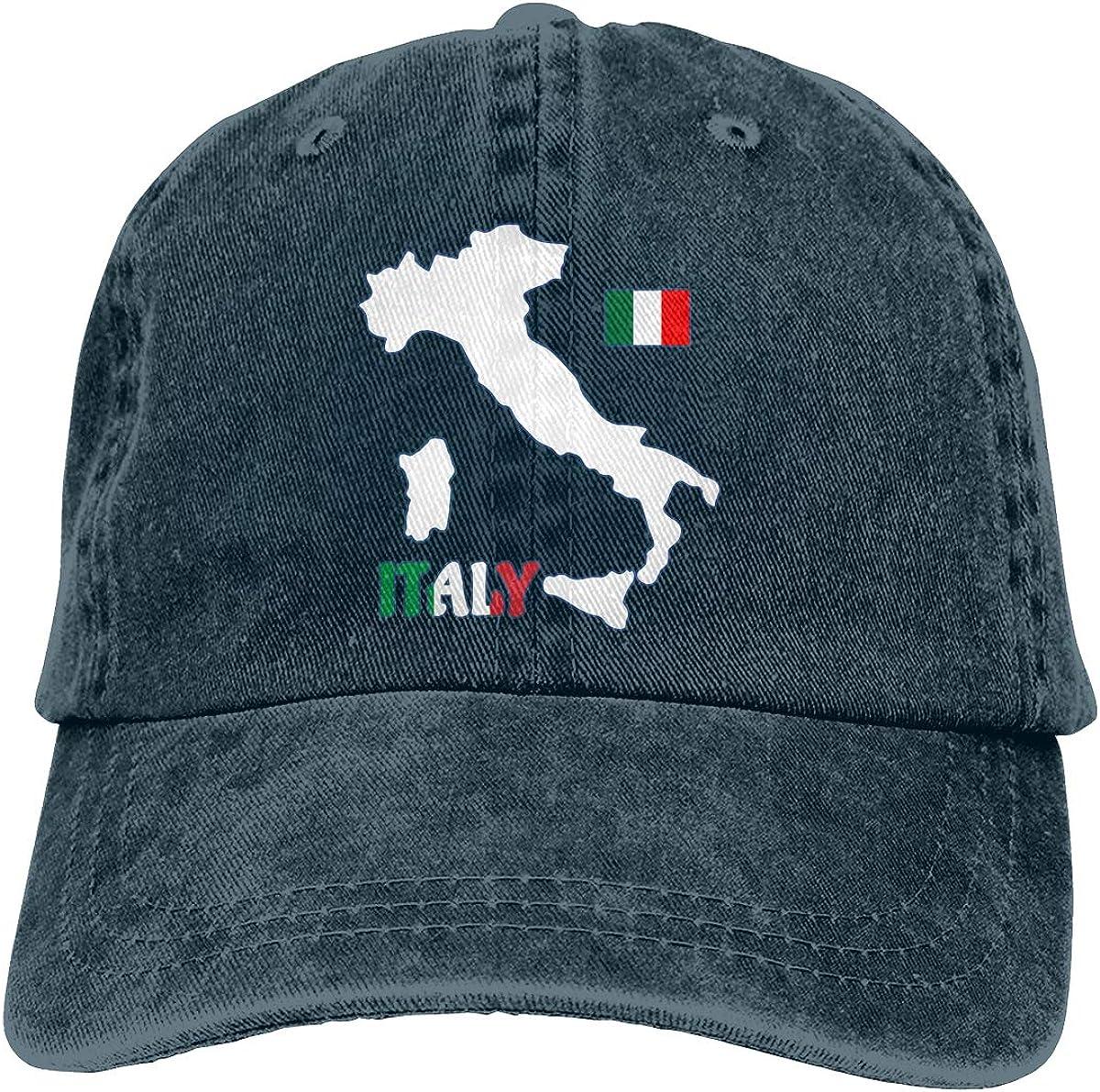 Best4U/&Me Unisex Italy Map Flag Vintage Washed Dad Hat Fashion Adjustable Baseball Cap