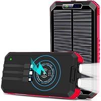 OIMYE Solar Charger 15W 30000mAh Wireless Qi Power Bank Deals