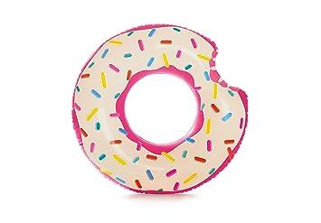 Intex 56265NP - Rueda hinchable Donut de fresa 107 x 99 cm: Amazon ...