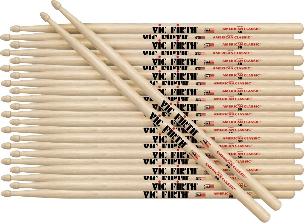 Vic Firth American Classic 55A Wood Tip Drum Sticks 12 Pairs