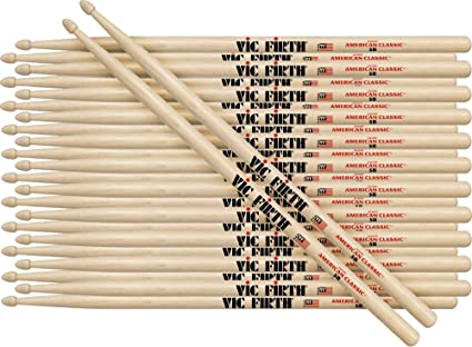 78f24a65af7 Image Unavailable. Image not available for. Color  Vic Firth 12-Pair American  Classic Hickory Drumsticks ...