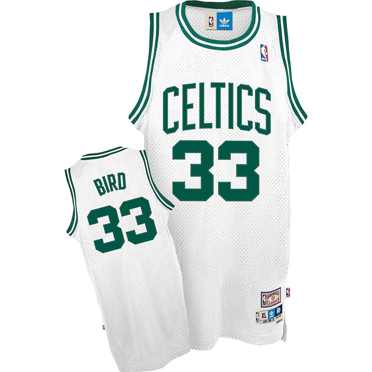 the latest b8098 6c7bd Larry Bird Boston Celtics NBA Swingman Hardwood Classics Throwback White  Jersey
