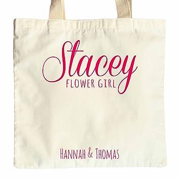 Cotton WEDDING GIFT BAG FLOWER GIRL PERSONALISED