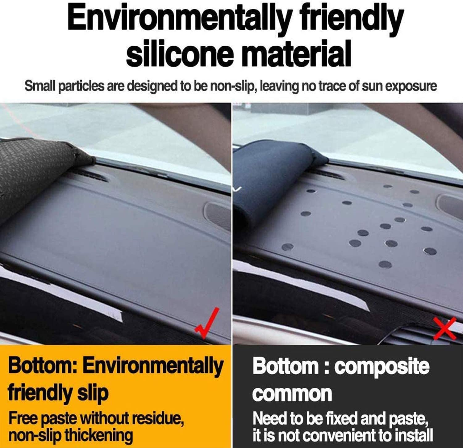 Backyard Compatible with Auto Car Dashboard Cover for Cadillac CTS 2003 2004 2005 2006 2007 Left Hand Drive Dashmat Pad Carpet Dash Mat