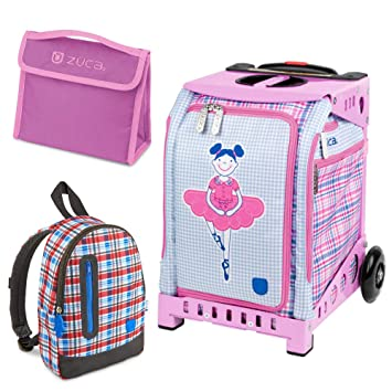 Amazon.com: Zuca Mini Ballerina Bag with Frame Snack Pouch and Explorer Backpack (Pink Frame/ Blue Backpack): Camera & Photo