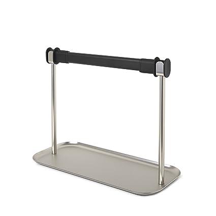 Umbra Limbo para papel higiénico con bandeja – fácil con una sola mano Tear dispensador de