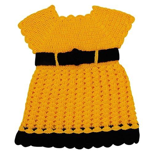 728e111b1 Amazon.com  The Creators Yellow Baby Girl Frock  Handmade