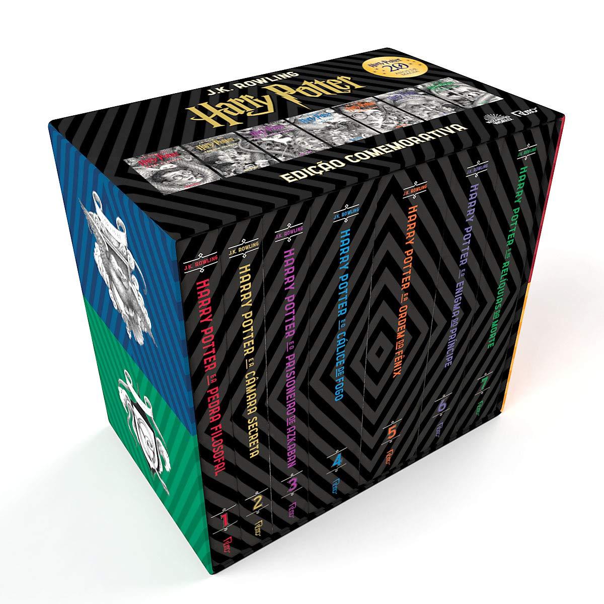 box comemorativo 20 anos de harry potter 7 livros capa dura com cards amazon com br harry potter 7 livros capa dura
