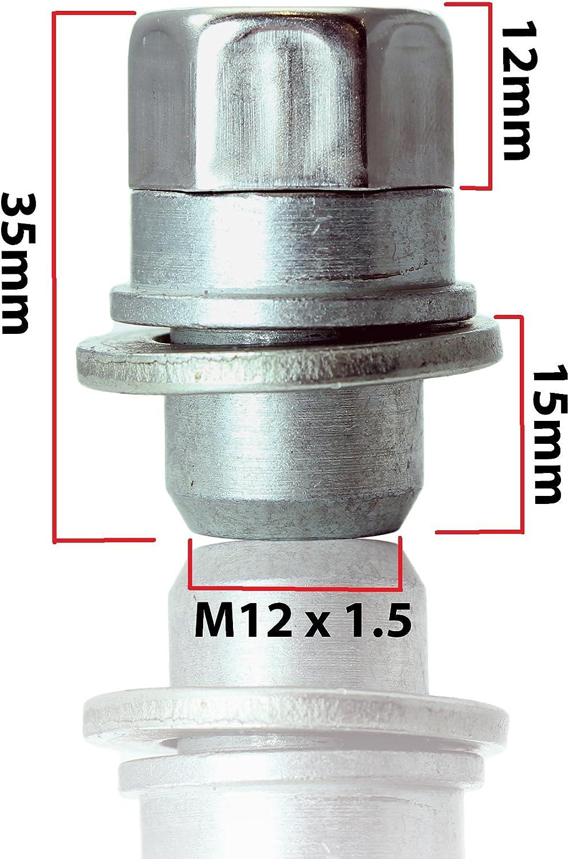 Toyota Auris blocage des roues M12x1,5 2006 /écrous alliages anti-vol