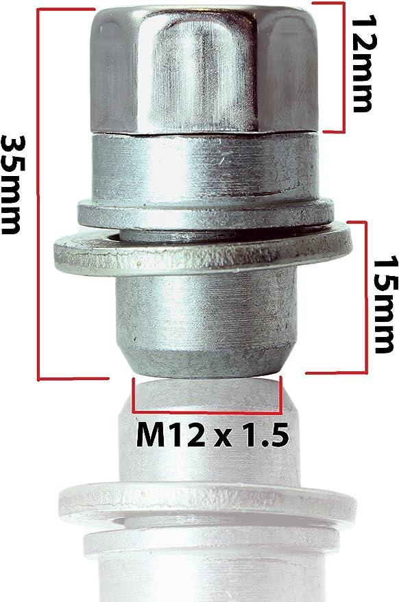 Mitsubishi L200 ruota i dadi di bloccaggio M12x1,5 anti-furto per le leghe
