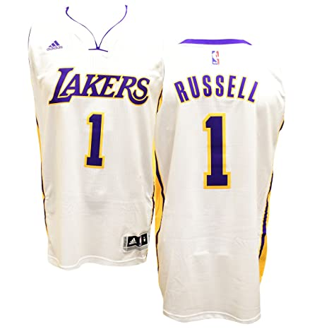 ca77fb3f D'Angelo Russell Los Angeles Lakers White Adidas Swingman Jersey ...