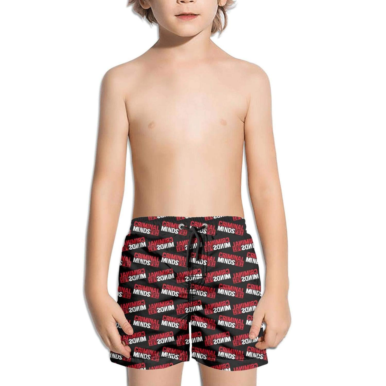 Kids Surfing Solid Board Fully Lined Swim Side Split Shorts