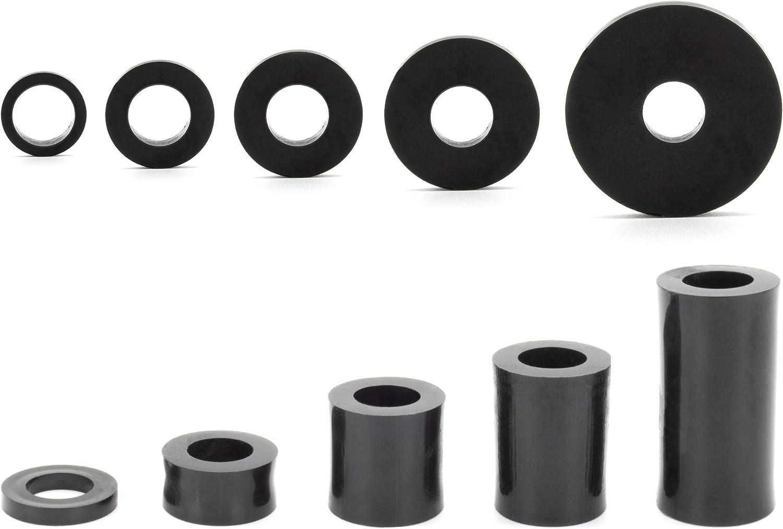 8 x 4,3 x 5 mm 100 manicotti distanziatori per M4 distanziatori rotondi in plastica Enkotrade rondelle distanziatrici