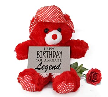 Buy Tied Ribbons Birthday Gift For Boyfriend Husband Special Girls Girlfriend Wife Love Sister Teddy Bear With Artificial Rose And Greeting Card Online At Low Prices In India Amazon In