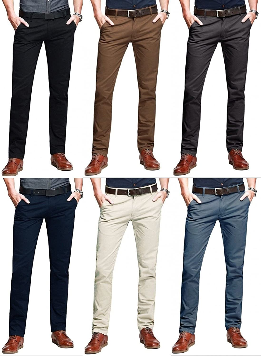 2b59c564a110c0 STALLION LONDON Herren Chino Hose Skinny - Slim Fit Stretch Chinohose  Business Casual: Amazon.de: Bekleidung
