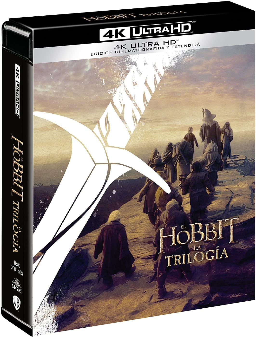 Trilogía El Hobbit versión cinematográfica + versión extendida 4k UHD [Blu-ray]