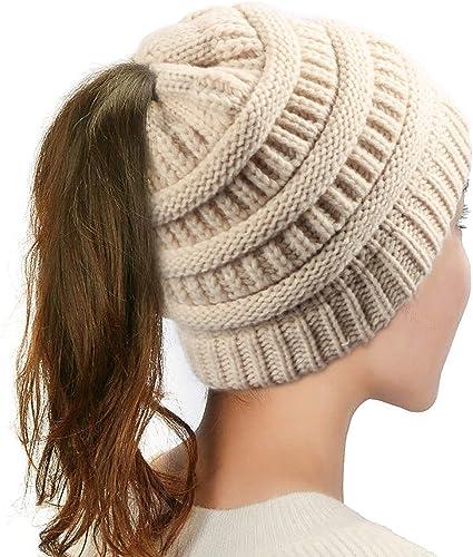 Wollmütze Wintermütze Dicke Ski Strickmütze Damen Mütze Beanie Warme