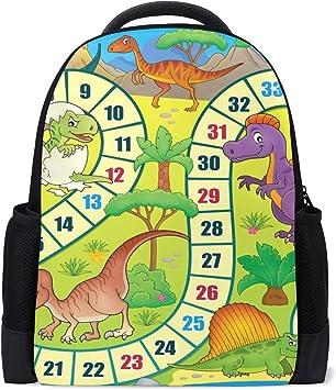 Mochila, Juego de Mesa de Dinosaurio de Dibujos Animados de Animales Divertidos, Mochila, guardería de Viajes Escolares para niños, niñas y Adolescentes: Amazon.es: Equipaje