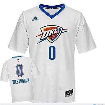 Thunder 0 Westbrook blanco camisetas manga corta nueva revolución 30 size-m: Amazon.es: Deportes y aire libre