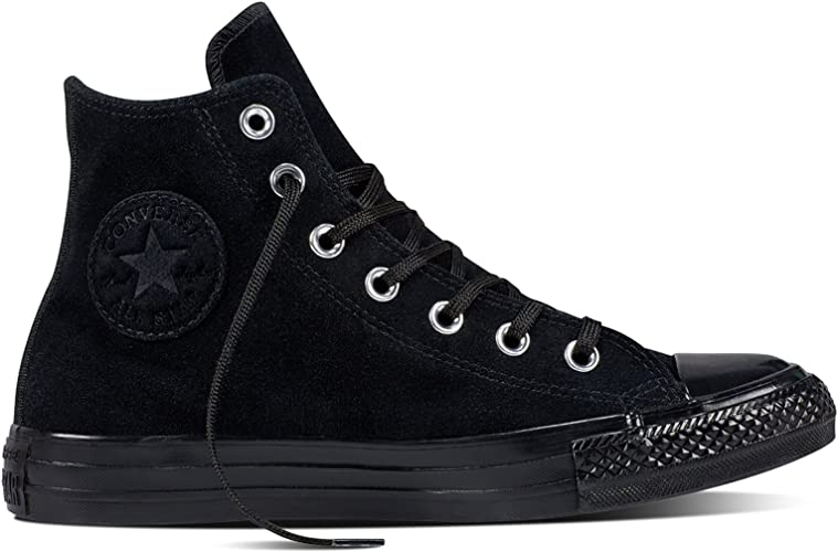 Converse All Star Hi Noir Cuir: Amazon.fr: Chaussures et Sacs