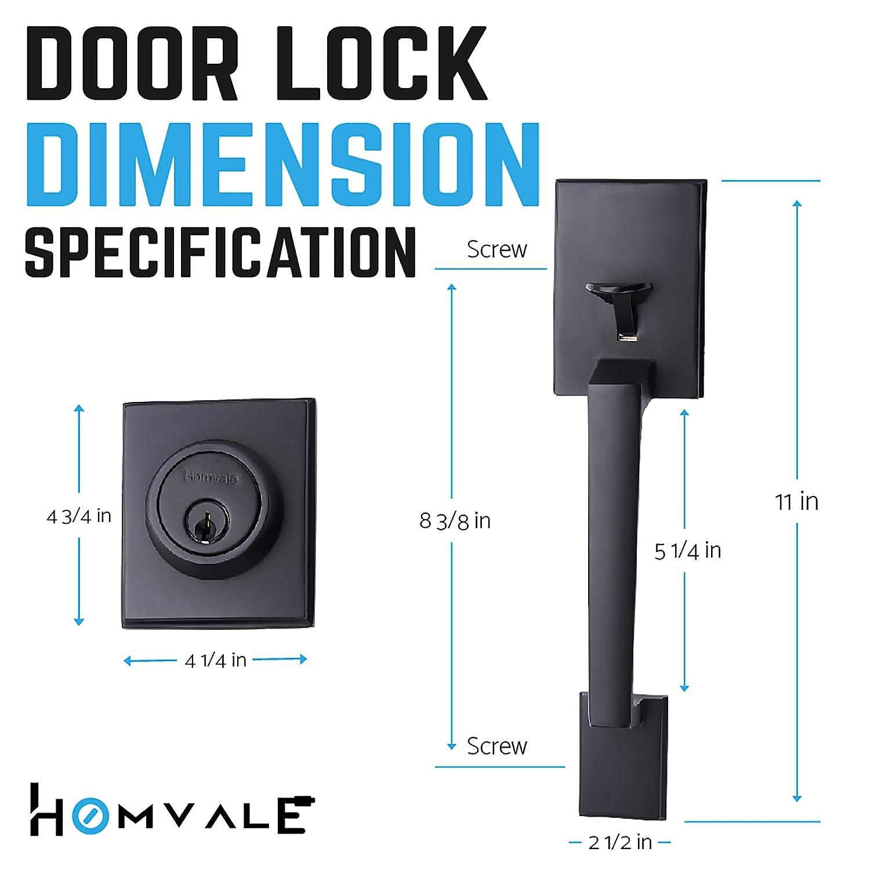 Front Door Handleset Black