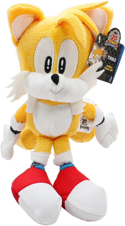 Amazon Com Jazwares Sonic The Hedgehog Plush 9 Classic Tails Toys Games
