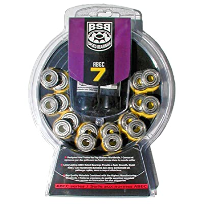 BSB Swiss Bearings ABEC-7 (16 Pack) for Inline and Quad Skates : Sports & Outdoors