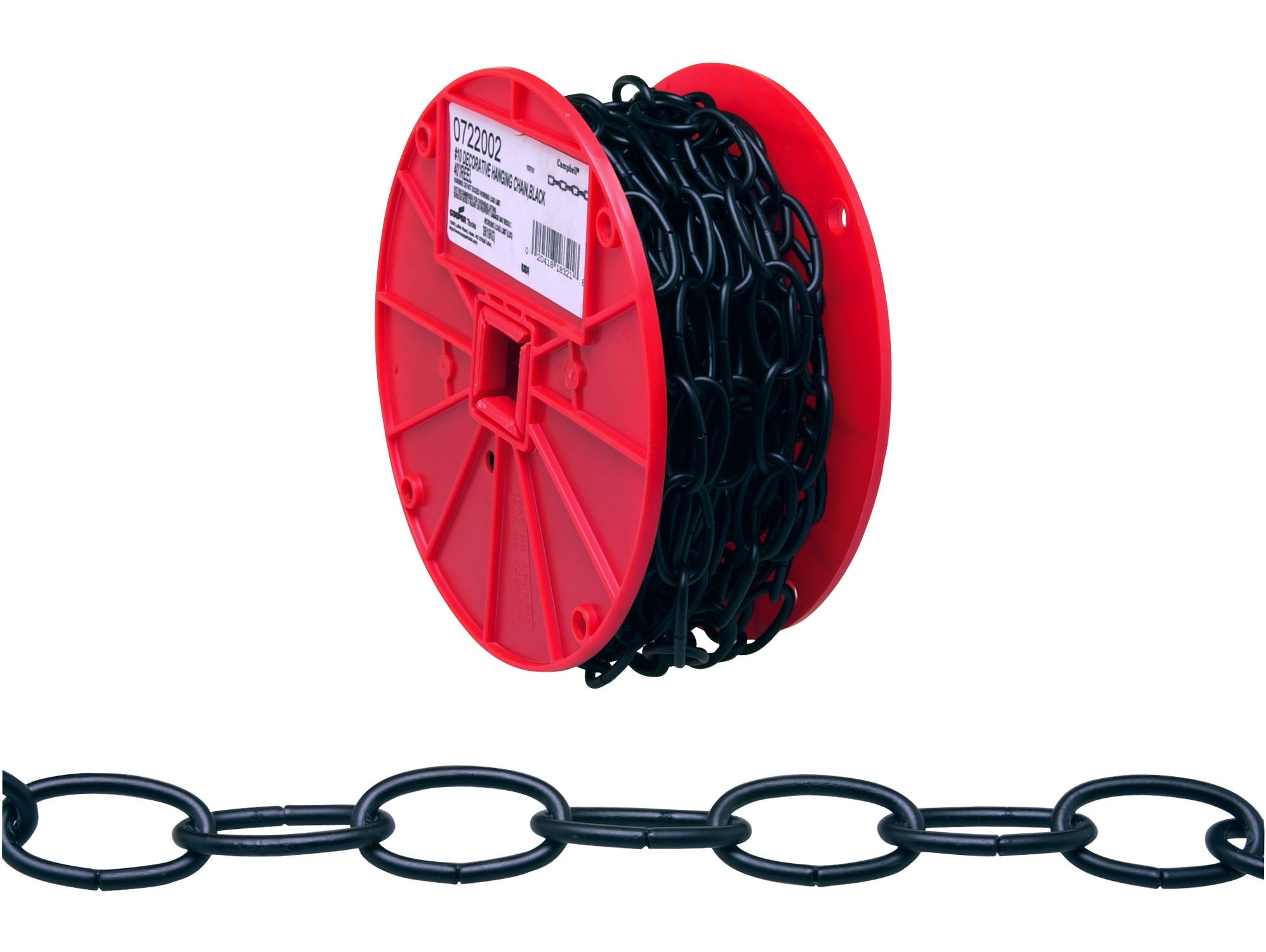 Campbell 0722002 Decorator Chain on Reel, Black