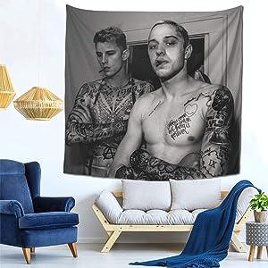 Machine Gun Ke-lly Tapestry Pete-Davidson Tapestry Wall Hanging Art for Bedroom Living Room Dorm Decor 59x59 Inch
