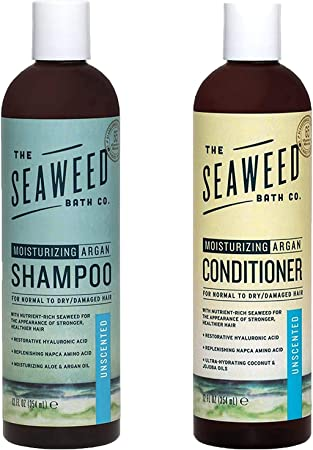 Amazon Com The Seaweed Bath Co Moisturizing Unscented Argan Shampoo And Conditioner Value Pack Beauty