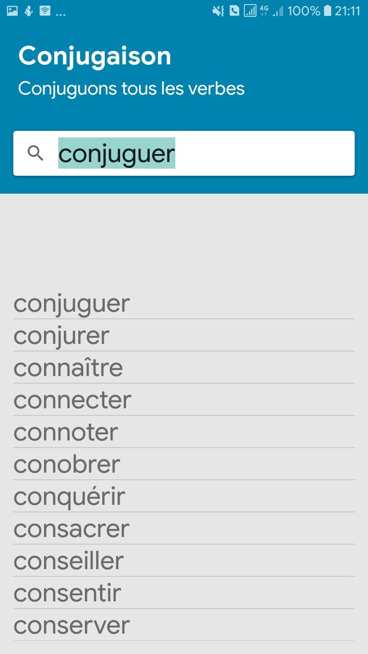 Conjugaison Francaise Sans Internet Amazon Ca Appstore For Android