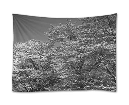 Amazon shadenov wall hanging tapestry spring trees flowering shadenov wall hanging tapestry spring trees flowering pink white flowers tapestry art sets home mightylinksfo