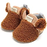 LIVEBOX Newborn Baby Booties, Cute Cozy Fleece Warm Winter Infant Prewalker Toddler Snow Boots Crib Shoes for Girls Boys