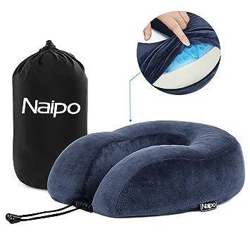 office sleeping pillow. naipo travel pillow memory foam neck cushion head chin support rest u shape gel office sleeping h