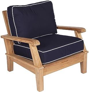 Amazon.com: Royal teca colección Miach Miami teca silla ...