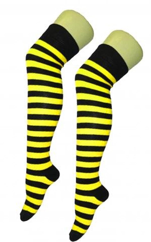 Bee Bumblebee Socks Adult Costume Accessory NEW Yellow Black Striped
