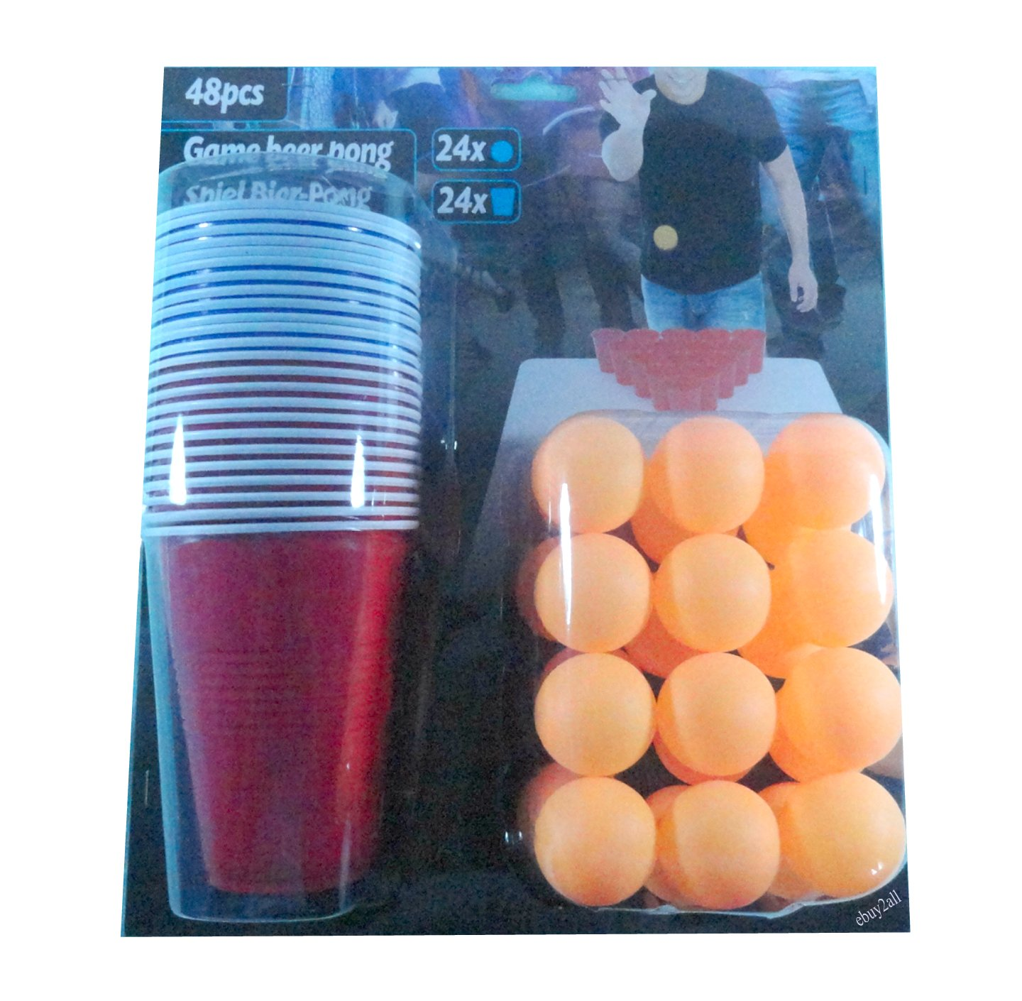 Ardisle 36pc Beer Pong Drinking Game Set Coppe Sfere del partito Kit Bar regalo. PMS